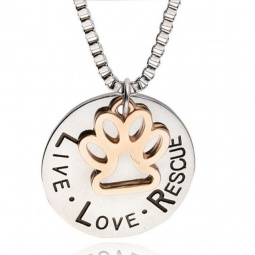 Live Love Rescue Gold Paw Charm
