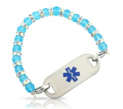 Out of The Blue Medical ID Alert Bracelet