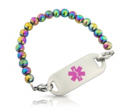 Rainbow Magnetic Medical ID Alert Bracelet