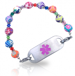 Summer Flowers Medical ID Alert Bracelet