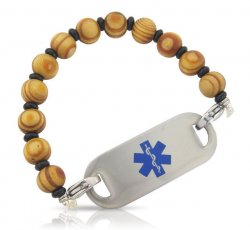 Touch Wood Medical ID Alert Bracelet