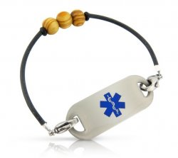 Knock on Wood Medical ID Alert Bracelet