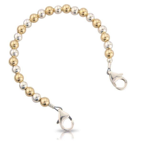 Gold   Silver Balls Bracelet Only - lifesavingengraving.co.uk 0e387ad81