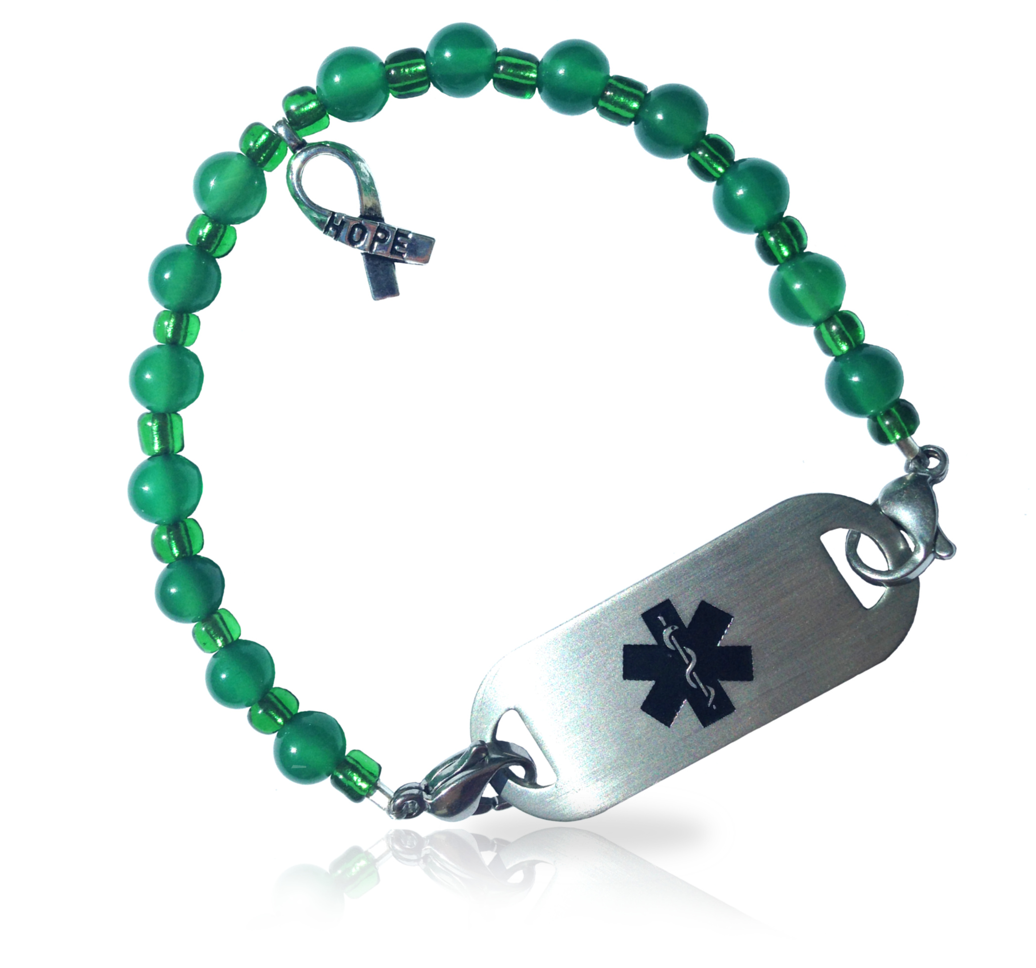 il jewelry p bracelet awareness illness ribbon ihsv green fullxfull health mental