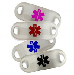 Medical ID Alert Tag with 5 lines of engraving