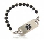 Black Beauty Medical ID Alert Bracelet
