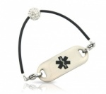 Crystal Shambala Medical ID Alert Bracelet