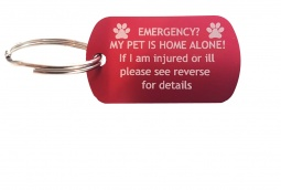 Pet Emergency Keyring