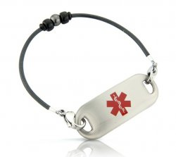 Black Pearl Medical ID Alert Bracelet