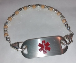 Gold & Silver Dream Medical ID Alert Bracelet
