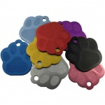 Paw shaped pet tag