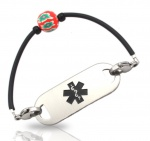 Poppy Rubber Tube Medical ID Alert Bracelet