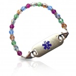 Mystique Swarovski Crystal Medical ID Alert Bracelet
