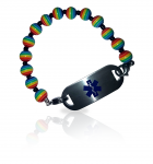 Gay Pride Rainbow Medical ID Alert Bracelet